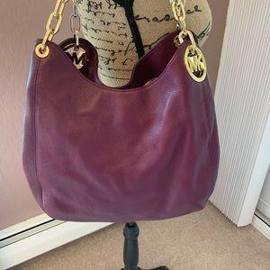 Michael Kors burgundy Leather purse